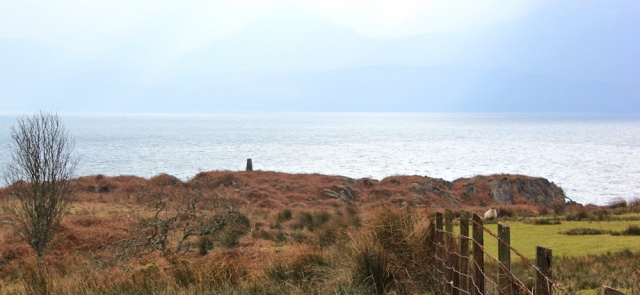 11 trig point and Arran, Ruth's coastal walk