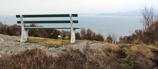 12 seat, Mull of Kintyre Way, Ruth hiking in Scotland