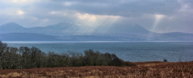 15 light over Arran, Ruth Livingstone hiking in Scotland