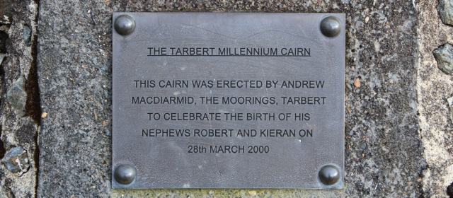 16 The Tarbert Millennium Cairn, Ruth walking the Kintyre Way