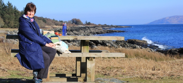 17 lunch spot, Ruth Livingstone on her coastal walk in Scotland