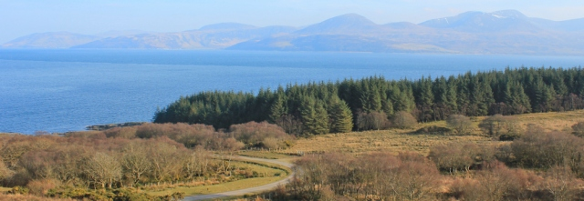 21 looking over Arran, Ruth Livingstone's coastal walk, Scotland