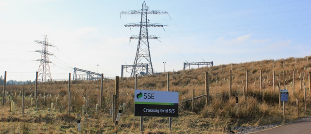 22 electricity grid station, Ruth walking on Kintyre