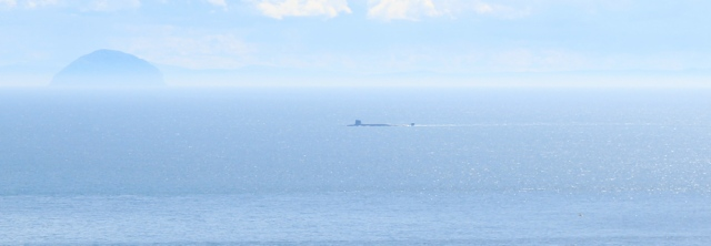 20 rock shaped definitely is a submarine, Ruth Livingstone hiking the Mull of Kintyre