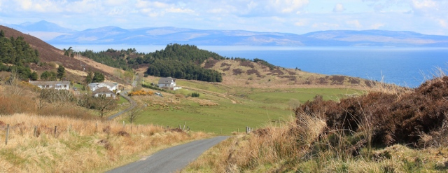 21 Feochaig and view of Arran, Ruth's coastal walk