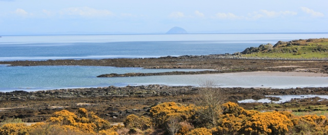 25 Carrick Point and Ailsa Craig, Ruth's coastal walk, Kintyre, Scotland
