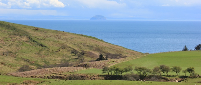 27 Ailsa Craig and Ayreshire coast, Ruth's coastal walk, Kintyre
