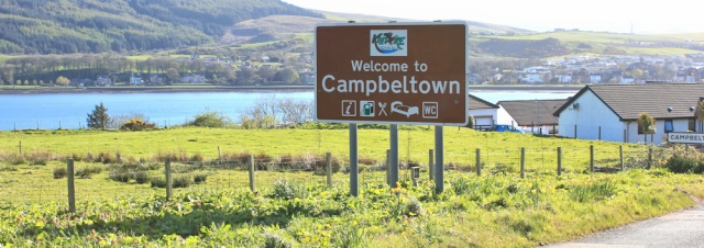 39 approach to Campbeltown, Ruth's coastal walk, Mull of Kintyre, Scotland