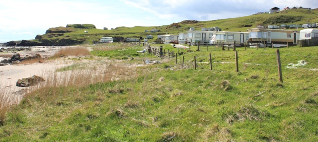 49 Kilmanshenachan and caravan site, Ruth's coastal walk, Mull of Kintyre