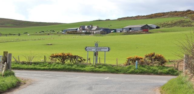 55 crossroads, Southend, Ruth's coastal walk on the Mull of Kintyre