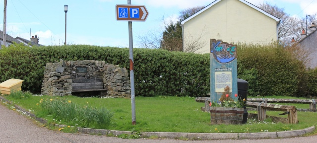 saddell parking place, Ruth walking the Kintyre coast.jpg