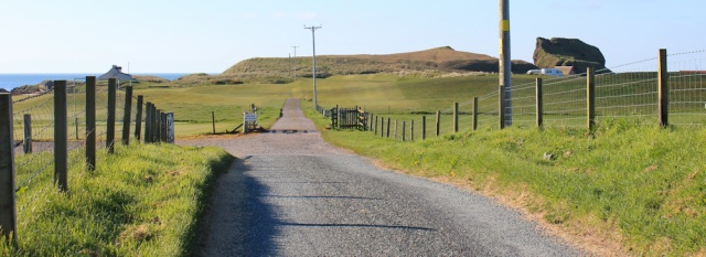 01 track through golf course, Southend, Ruth's coastal walk, Mull of Kintyre