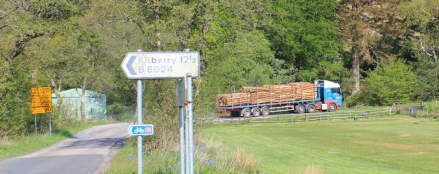 02 B8024 to Kilberry and lumber lorry, Ruth's coastal walk, Argyll