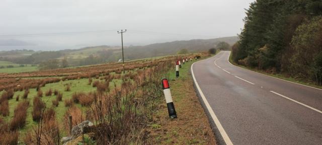 06 road-walking to Tarbert, Ruth's coastal walk around Kintyre, Scotland
