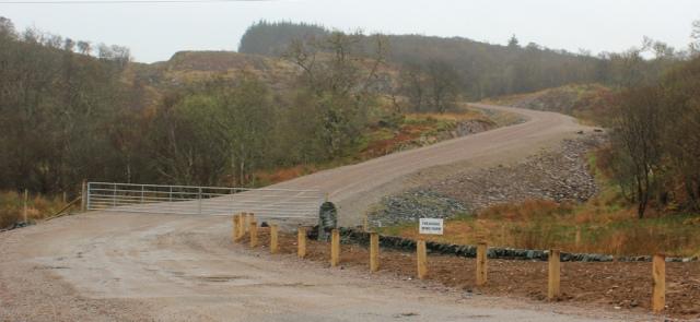 08 track to the windfarm, Ruth's coastal walk around Kintyre, Scotland