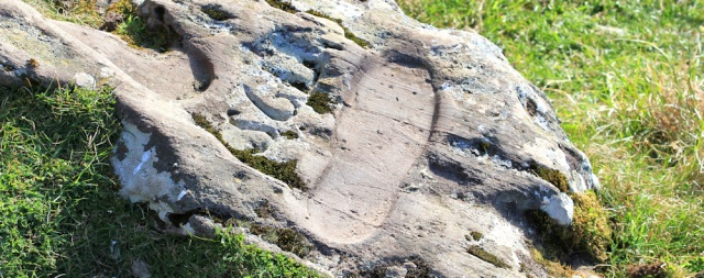 09 St Columba's footprint in stone, Ruth's coastal walk, Mull of Kintyre