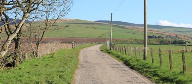 11 road up Gleann Breacairigh, Ruth's coastal walk, Mull of Kintyre