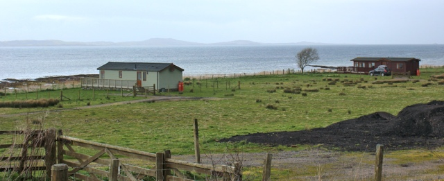 14 static caravans, Ruth's coastal walk, Kintyre, Scotland