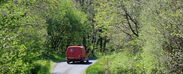 15 post office van, Ruth's coastal walk, Argyll, Scotland