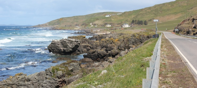 15 road walking, A83, Ruth hiking the west coast of Kintyre