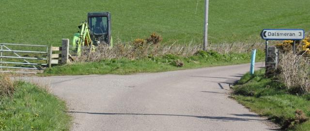 15 sign to Dalsmeran, Ruth's coastal walk, Mull of Kintyre