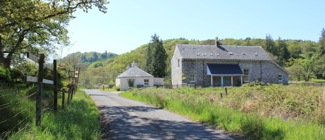18 houses along road to Kilberry, Ruth's coastal walk, Argyll, Scotland