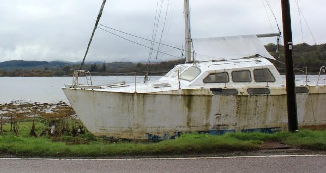 20 abandoned boat, Ruth's coastal walk around Kintyre, Scotland