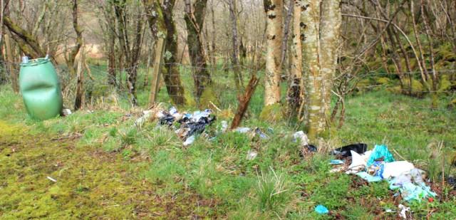 22 dumped rubbish, Tarbert, Ruth's coastal walk around Kintyre, Scotland