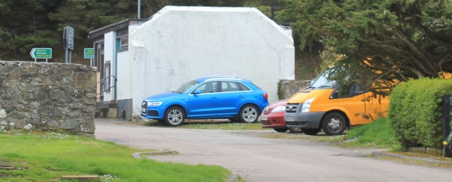 26 car parked, Tayinloan, Ruth's coastal walk, Kintyre, Scotland