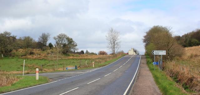 27 junction, Tarbert, Ruth's coastal walk around Kintyre, Scotland