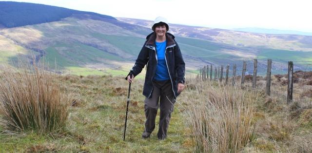 27 self-portrait, Ruth Livingstone on the Kintyre Way, Amod Hill
