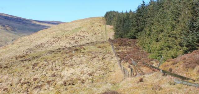 28 path following the fence, Ruth's coastal walk, Mull of Kintyre