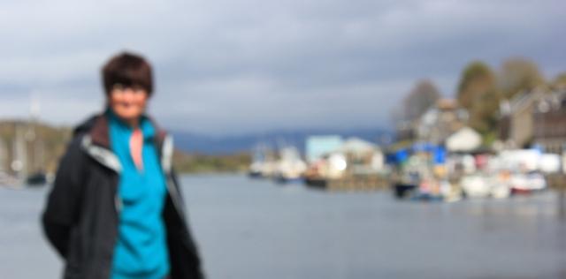 30 self-portrait, Tarbert, Ruth's coastal walk around Kintyre, Scotland