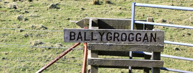48 Ballygroggan sign, Ruth's coastal walk, Mull of Kintyre