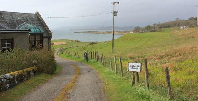 51 private road to Ronachan House, Ruth's coastal walk, Kintyre, Scotland