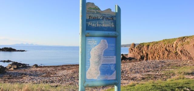 63 end or beginning of Kintyre Way, Ruth in Machrihanish