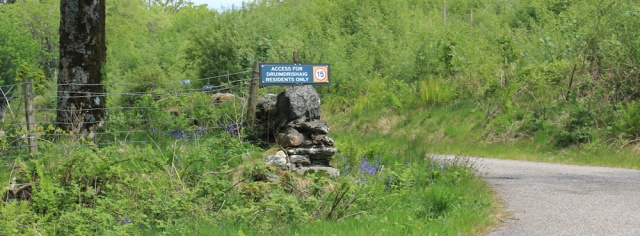 01 Kilmaluig turnoff, Ruth's coastal walk, Argyll, Scotland