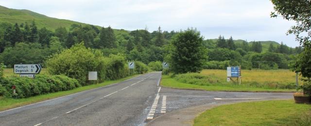 02 turn off to Melfort, Ruth's coastal walk around Scotland