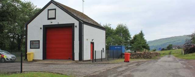 03 fire station at Kimelford, Ruth's coastal walk around Scotland