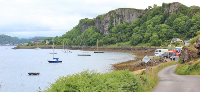 04 ferry for Kerrera, Ruth walking the coast of Scotland