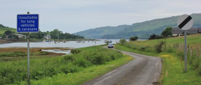 04 unsuitable for long vehicles, Ruth's coastal walk around Scotland