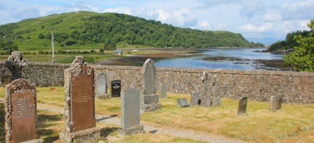 05 cemetery at Kilninver, Ruth's coast walk around Scotland