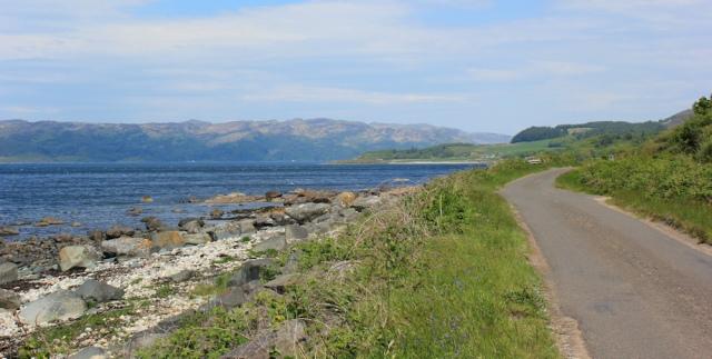 05 coastal road, Loch Caolisport, Ruth's coastal walk, Argyll, Scotland