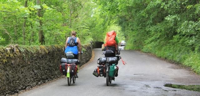 05 cycle touring, Oban, Ruth walking the coast of Scotland