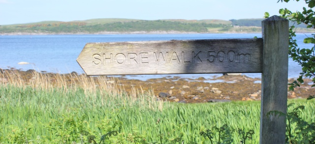 06 shore walk sign, Ruth's coastal walk, Knapdale, Scotland