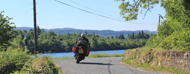 07 motorcyclist on B8025, Ruth's coastal walk, Argyll