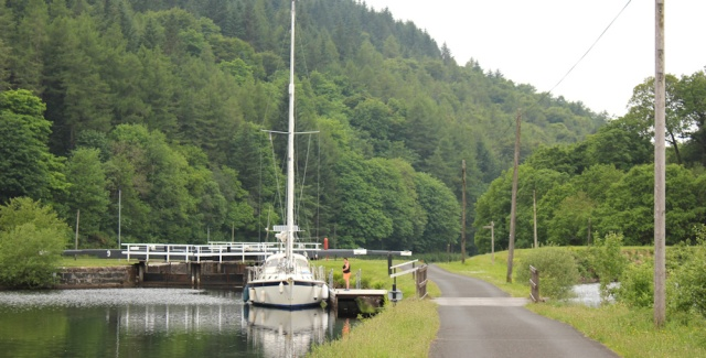 07 sailing ship, Crinan Canal, Ruth's coastal walk, Scotland