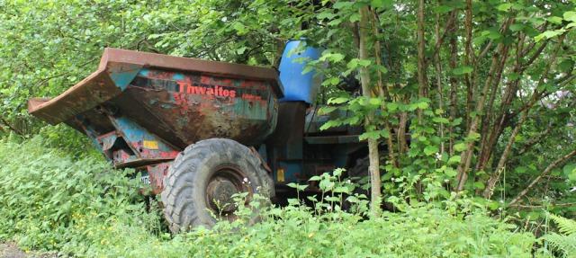 08 rusty tractor in ditch, Ruth's coastal walk around Scotland