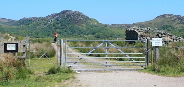 10 mountain bikers, Ellary Estate, Ruth's coastal walk, Argyll, Scotland