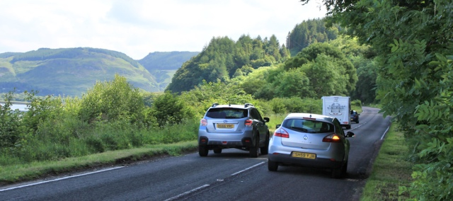 10 traffic on A816, Ruth Livingstone hiking to Oban